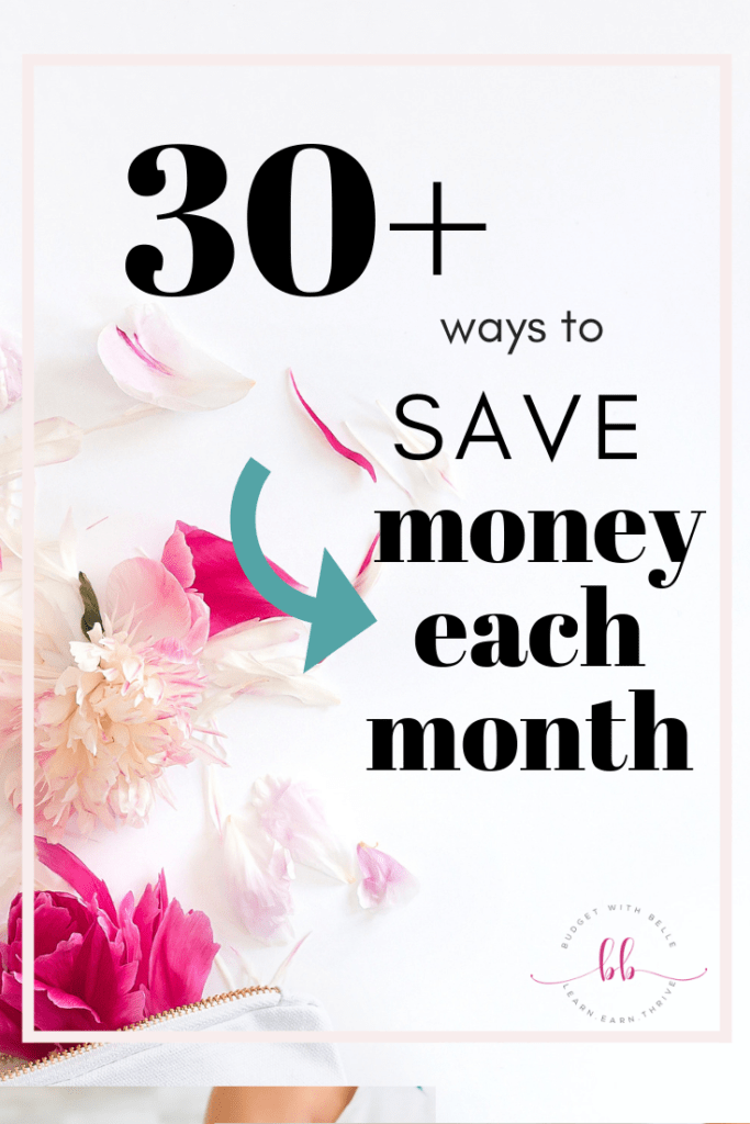 Checkout these 30+ easy ways to save money on everything from groceries to health care, kids stuff, utilities, transportation, gifts, entertainment, and more!