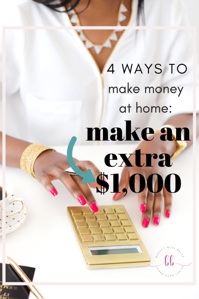 Here are 4 ways you can make extra money. They are easy and simple ways to earn around $1000/month without working a job? You have come to the right place!! Click through to find out how you can earn around $1000/month from home