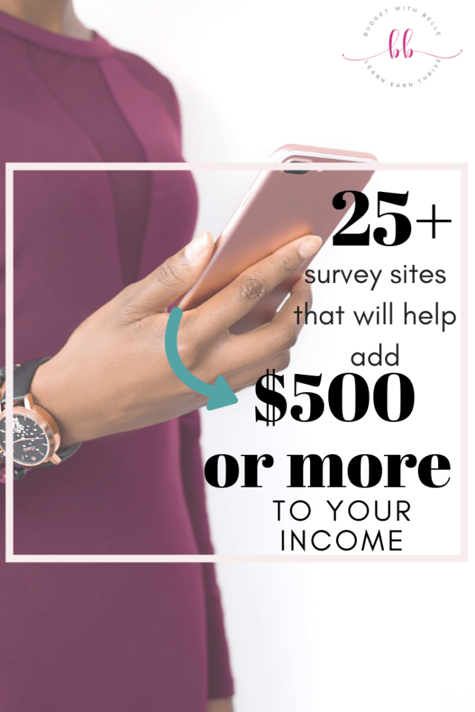 If you're looking for an easy way to make some extra cash, these 25 top survey sites will make you $500 per month or more.