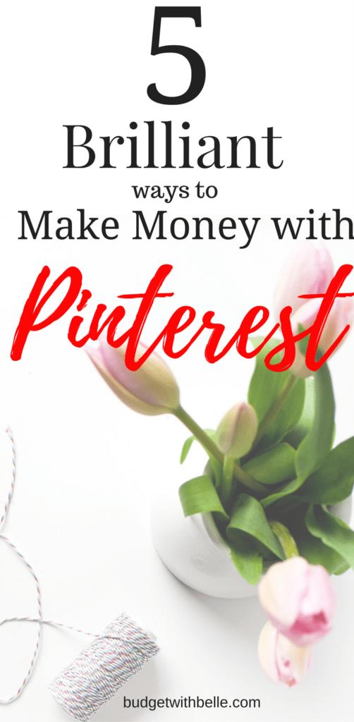 Make Money With Pinterest| Make Money Online| Make from home| Work-at-Home| Make Money Online| Budgetwithbelle.com