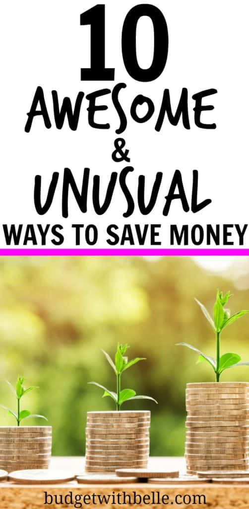 10 Awesome and Unusual Ways To Save Money. Side Hustle. Make Money. Weird Ways To Save Money. Money Tips. Money Saving Ideas