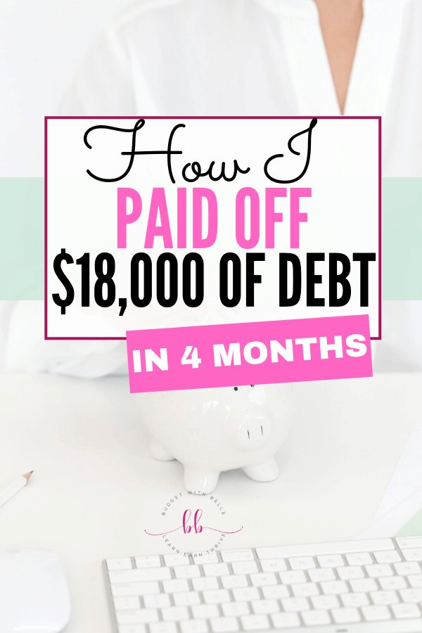 I Paid Off $18,000 in 4 Months! debt payoff credit card. Personal Finance Tips | Debt Payoff | Payoff Debt | How to Pay off Debt